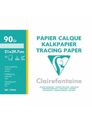Clairefontaine Калька для лазерной печати, А4 (210×297 мм), 90-95 мкм, 12 л.