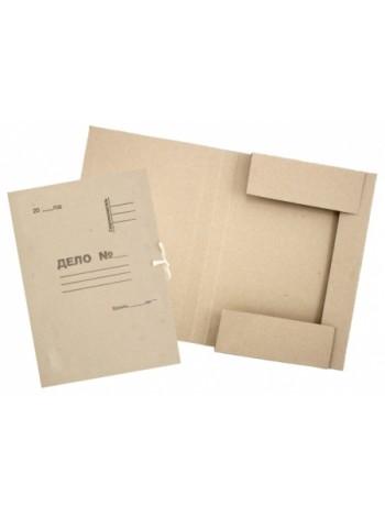 Папка картонная на завязках «Дело» 0,6мм, Полиграфкомпонент