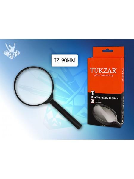TUKZAR Лупа канцелярская, диаметр 90 мм