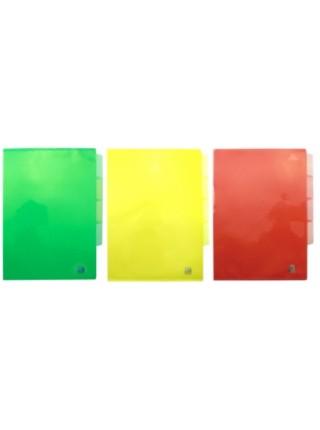 SPONSOR Папка-уголок пластиковая с 3 отделениями, толщина пластика 0.15мм, ассорти