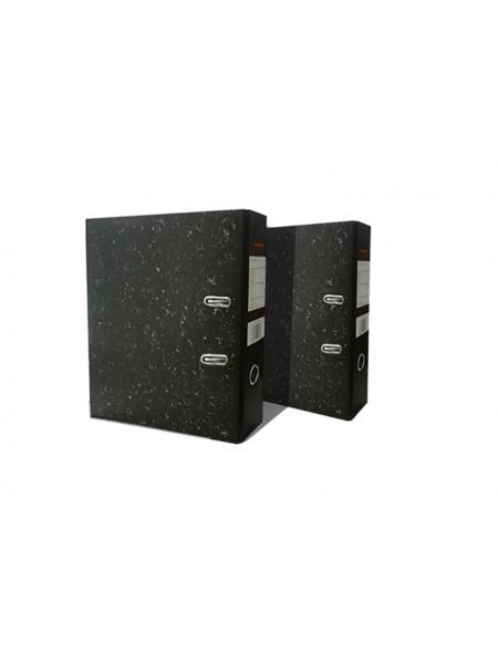 TIRALANA Папка-регистратор мраморный 80 мм, собранная, с металл. уголком