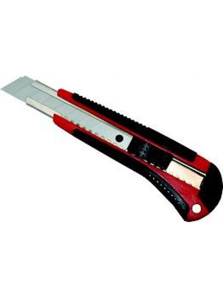 LACO Нож канцелярский С18С комфорт прорезиненый, с 2-мя запасными лезвиями
