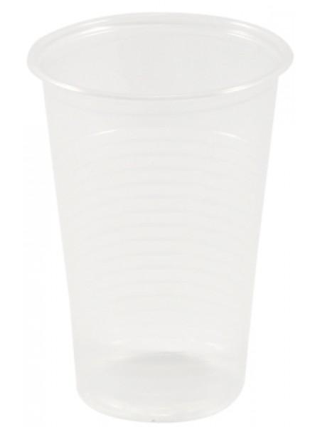 Стакан пластиковый одноразовый, 200 мл, прозрачный, ПП, 100 шт/уп