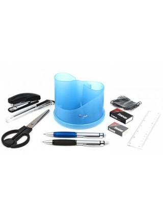 FORPUS Настольный органайзер, 9 предметов, вращающийся, синий ROTARY