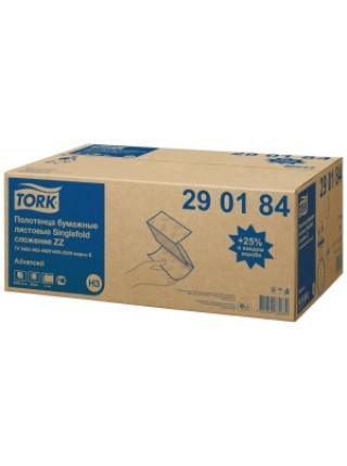 TORK Полотенца бумажные листовые Singlefold сложения ZZ двухслойные (200 л./уп)