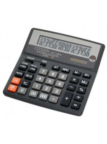 CITIZEN Калькулятор настольный 16-разрядный SDС-660II