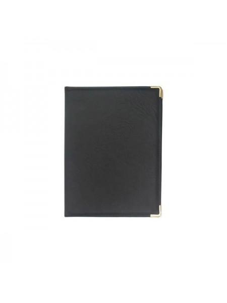 АЛЕКС Папка адресная с одним вертикальным карманом, кожзам, черная, размер 320х220х15 мм