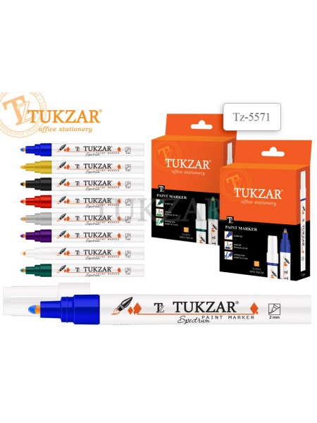 TUKZAR Маркер-краска SPECTRUM, пулевидный наконечник, 2 мм