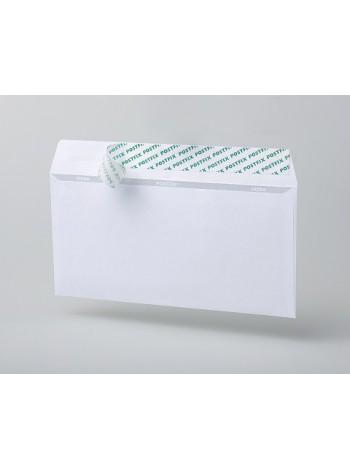 PostFix Конверт E65, белый, силиконовая лента, внутренняя запечатка, 80 г/м2, 110x220