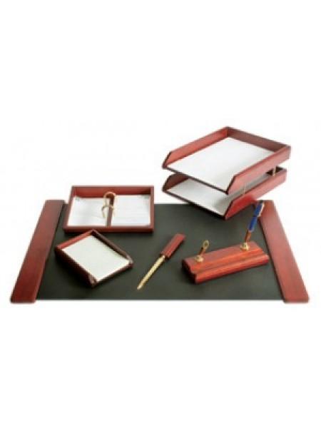 FORPUS Набор настольный, деревянный,  6 предметов