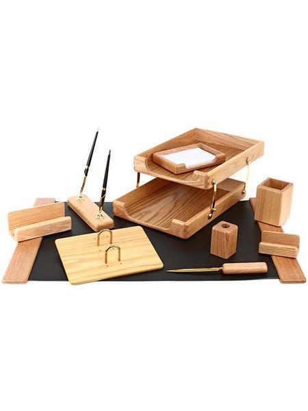 FORPUS Набор настольный, деревянный, 10 предметов