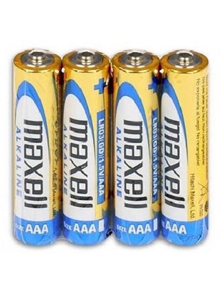 MAXELL Батарея AAA Alkaline LR03, 4 шт. в пленке
