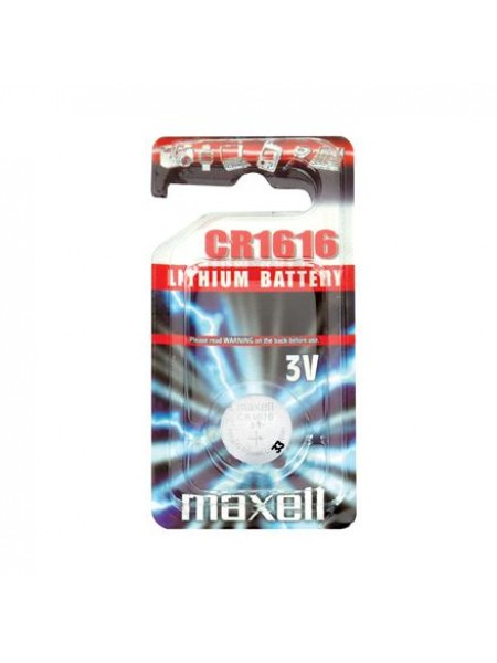 MAXELL Батарейка литиевая CR1616 блистер по 1 шт.