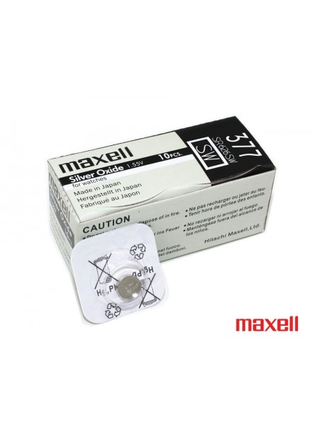 MAXELL Батарейка часовая 377/SR626SW оксид-серебряные
