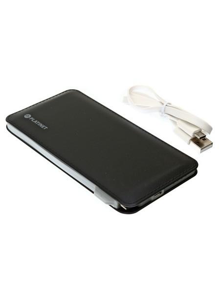 PLATINET Внешний аккумулятор PMPB60B (6000 мАч), черный, кожа