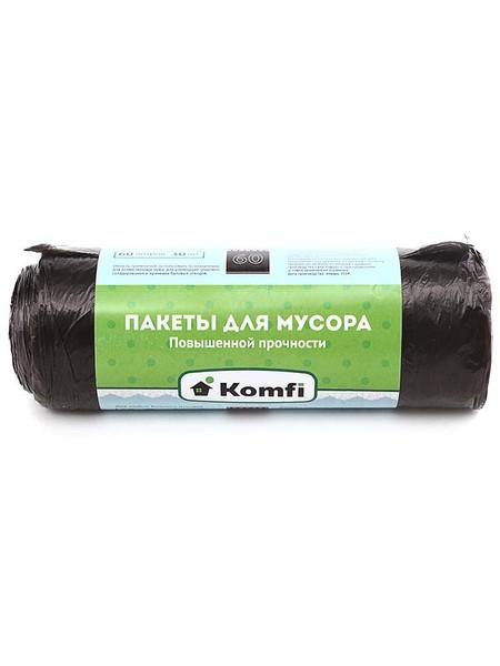 Komfi Пакеты для мусора  60л, повышенной прочности, 30 шт/рул, черные