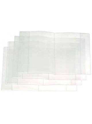 Обложка для тетрадей, учебников, А5 (350?212 мм) толщина 120 мкм, 15 шт., прозрачная