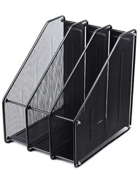 FORPUS Лоток вертикальный с 3 отделениями металлический, 310x290x240 мм