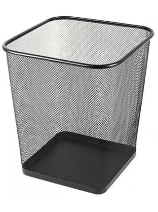 FORPUS Корзина для бумаг металлическая, сетка, квадратная, объем 15 л