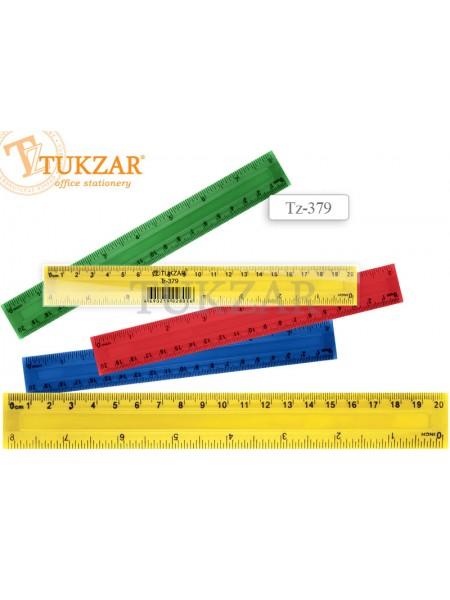TUKZAR Линейка пластиковая 20 см, с двойной шкалой