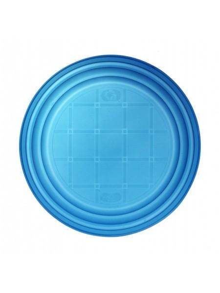 Тарелка пластиковая одноразовая, d 165мм, синяя, 100 шт/уп