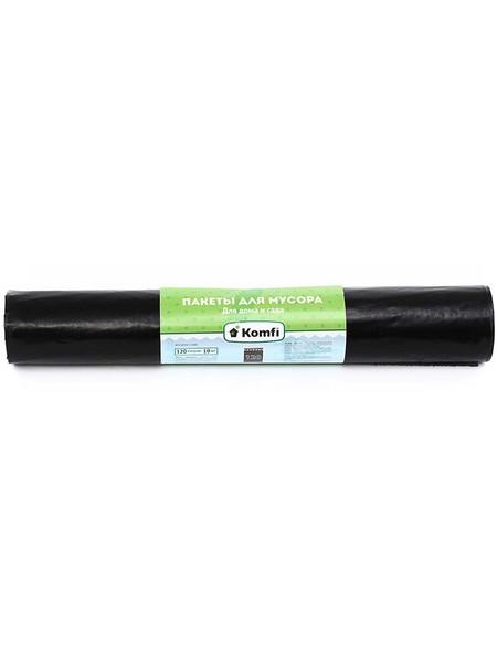 Komfi Пакеты для мусора 120л, повышенной прочности, 10 шт/рул, черные
