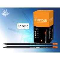 TUKZAR Карандаш чернографитный STYLE, HB, с ластиком, заточенный, шестигранный пластиковый корпус