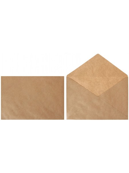 КУРТ Конверт 290х390 мм (E4), чистый, крафт бумага