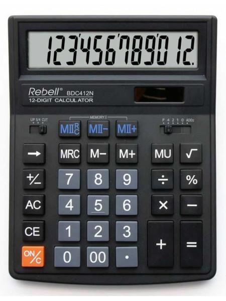 Rebell Калькулятор настольный 12-разрядный BDC412NBK BX