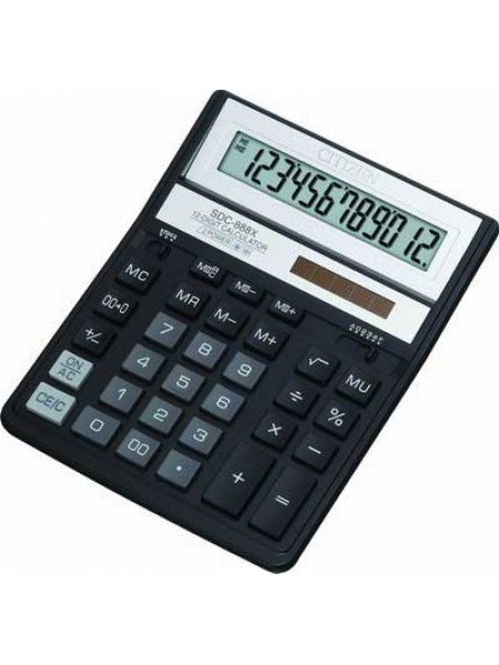 CITIZEN Калькулятор настольный 12-разрядный SDC-888X
