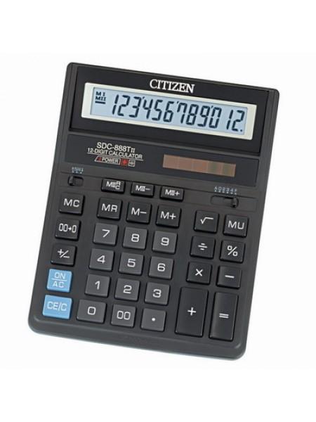 CITIZEN Калькулятор настольный 12-разрядный SDC-888TII