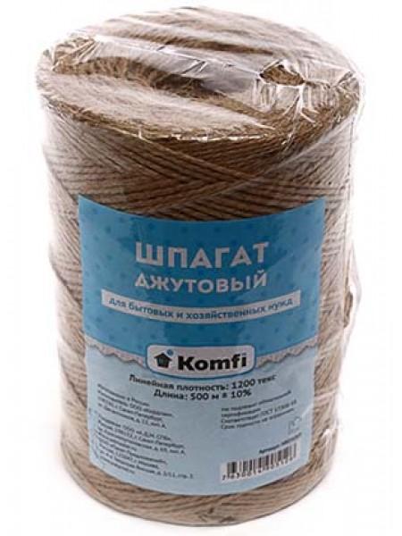 Шпагат джутовый 500м (+/- 10%) 1200 текс Komfi /12