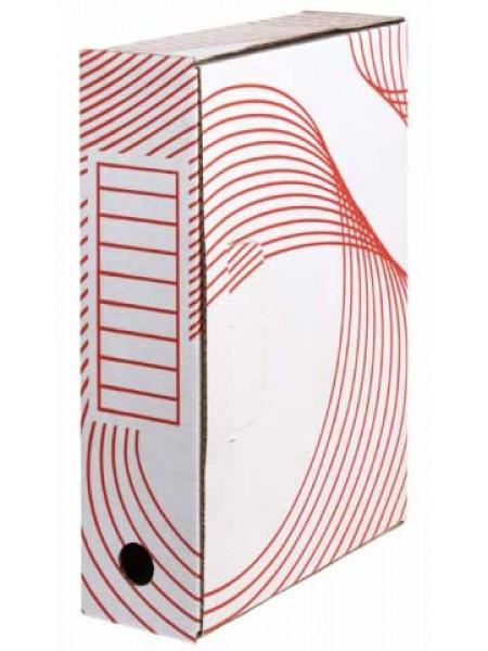 Архивный короб из белого картона  80 мм