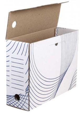 Архивный короб из белого картона 100 мм