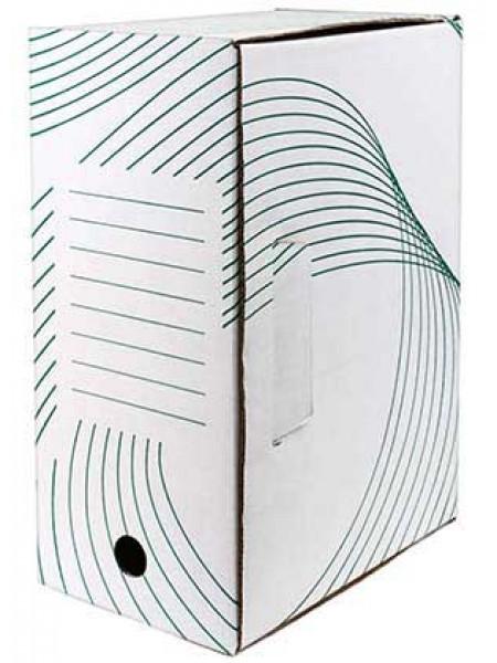 Архивный короб из белого картона 150 мм
