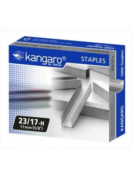 KANGARO Скобы для степлера №23/17, 1000шт/уп.