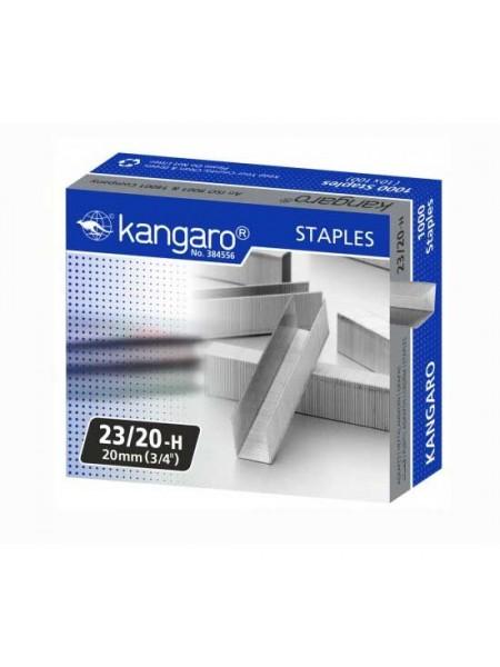 KANGARO Скобы для степлера №23/20, 1000шт/уп.