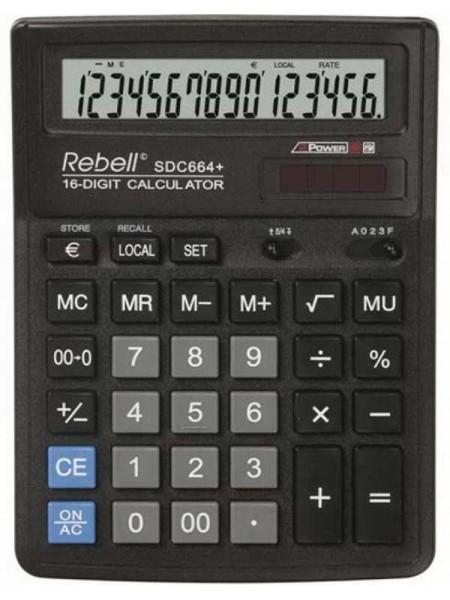 Rebell Калькулятор настольный 16-разрядный SDC664+ BX