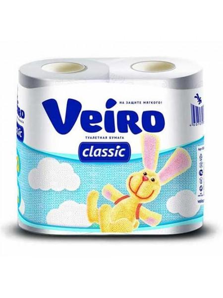 Туалетная бумага 2-х слойная Veiro Classic ( 4 шт в упак)