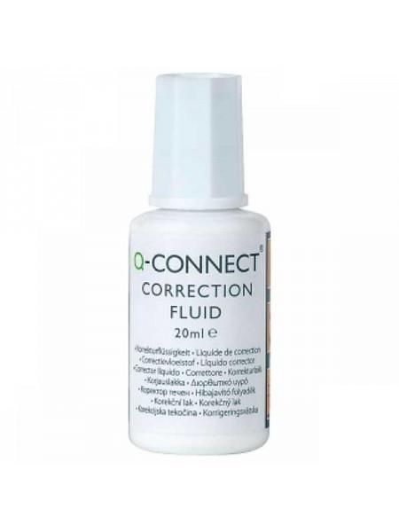 Q-CONNECT Корректирующая жидкость 20 мл, на спиртовой основе, с кисточкой