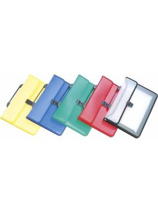 DONAU Портфель пластиковый с ручкой на 2 отделения