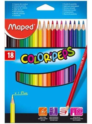 "MAPED Цветные карандаши ""Color Peps"" 18 шт"
