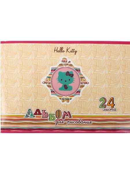 Action Альбом для рисования А4 Hello Kitty, 24 л.