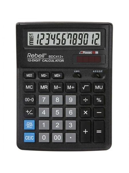 Rebell Калькулятор настольный 12-разрядный BDC412 BX