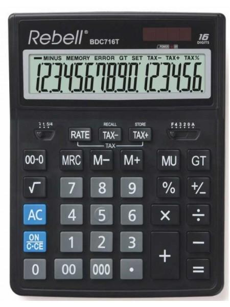Rebell Калькулятор настольный 16-разрядный BDC 716T