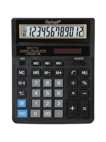 Rebell Калькулятор настольный 12-разрядный BDC712GL BX