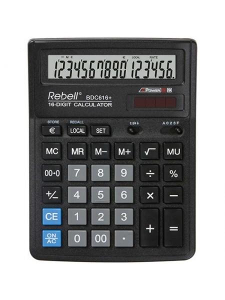 Rebell Калькулятор настольный 16-разрядный BDC616 BX