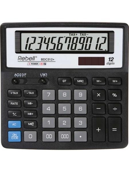 Rebell Калькулятор настольный 12-разрядный SDC620+ BX