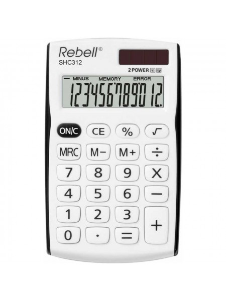 Rebell Калькулятор карманный 12-разрядный SHC312