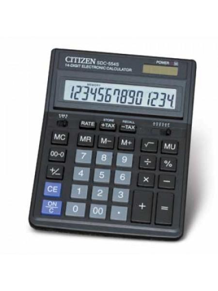 CITIZEN Калькулятор настольный 14-разрядный SDC-554S